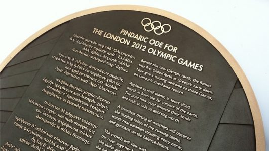 Bronze Casting with Olympic Odes for London 2012 Games