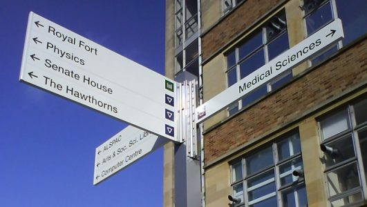 Fingerpost Signage made throughout the University of BristolFingerpost Signage made throughout the University of Bristol