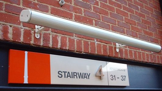 Lamp Lit Stainway Tray Signage