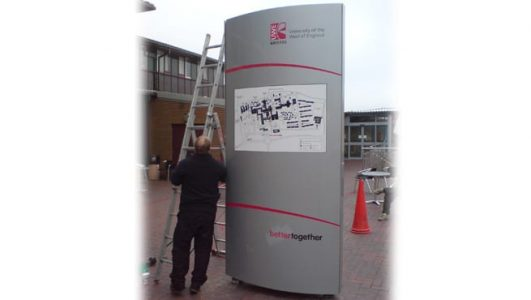 Installation of the Monolith Map for the University of Bristol
