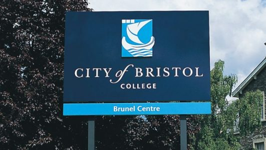 City of Bristol College Brunel Centre - Post Mounted Panel