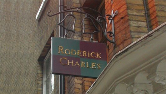 Roderick Charles, bells projecting shop signage