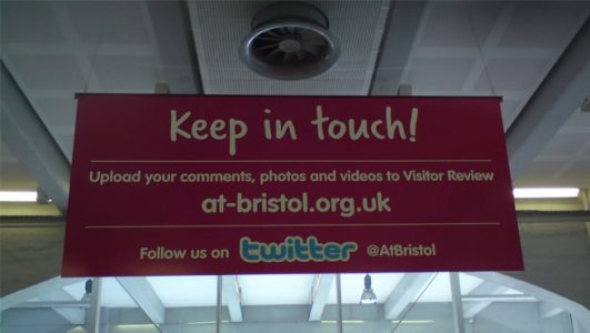 at-bristol.org.uk - Suspended 'keep in touch' sign