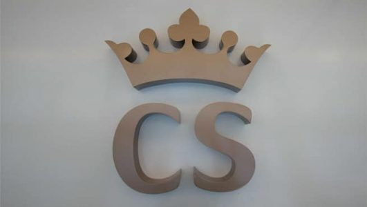 Built Up Stainless Steel Letters and Logo - Crown CS
